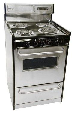 Haier 20 Inch Electric Range Her203qabs Remodelista Small Stove Outdoor Kitchen Appliances Outdoor Kitchen