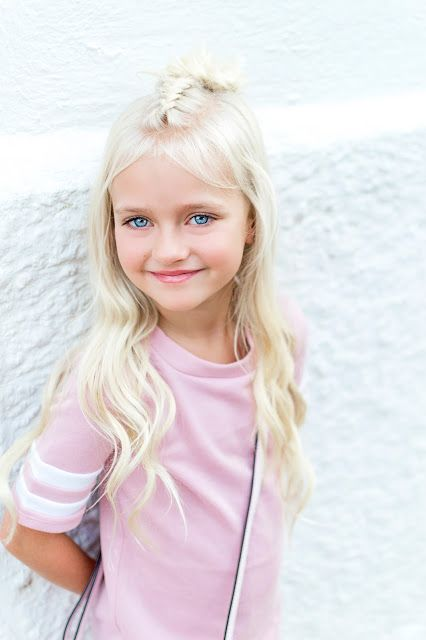 Blush Dress Shoes Little Girl Hair Blonde Fashion Trends Outfit Idea French Braid Half Up Hairdo Updo Blonde Fashion Little Blonde Girl Little Girl Hairstyles