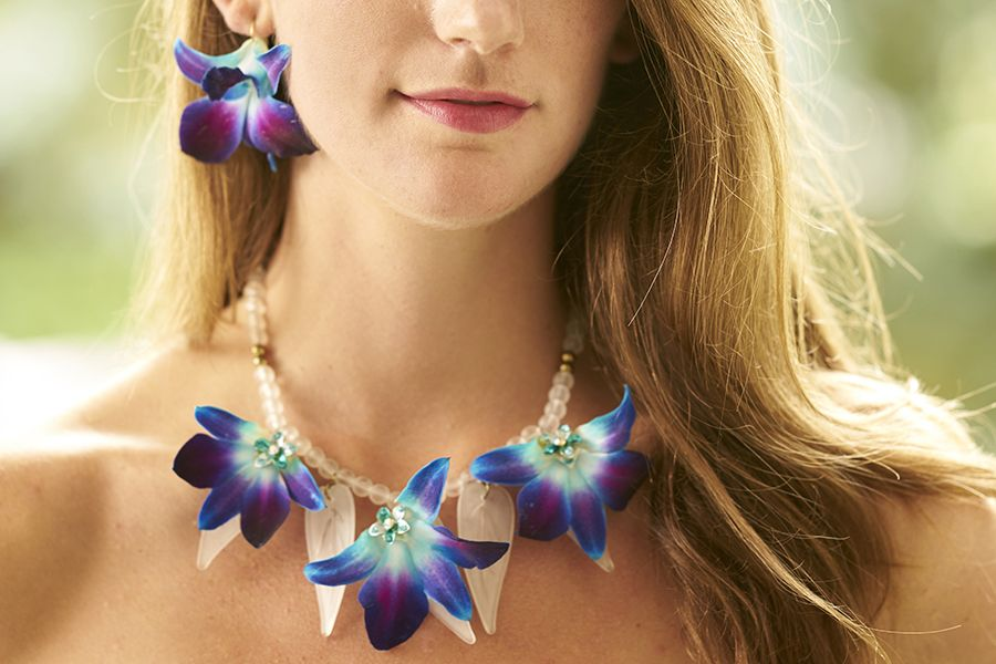 9cd7f71254a93 Flower Jewelry: How to Make a Fresh Orchid Necklace & Earrings in ...