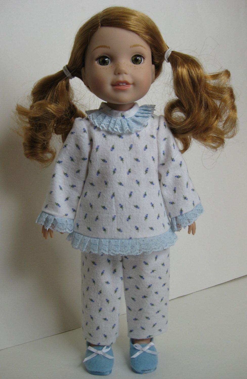 Blue Slippers for Wellie Wisher Dolls