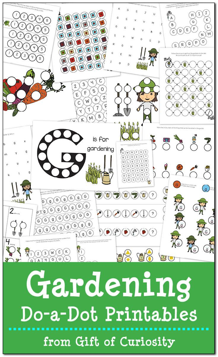 Gardening Do A Dot Printables Free Worksheets Spring And Gardens