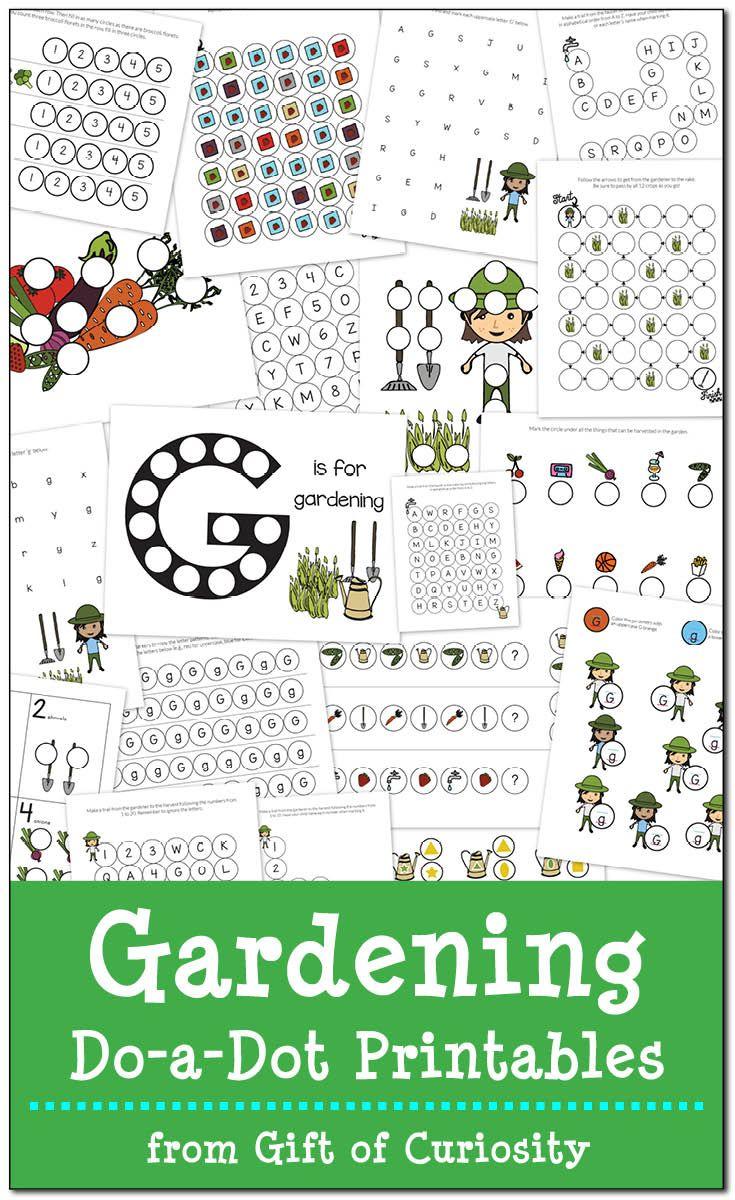 Gardening Do A Dot Printables Free Do A Dot Preschool Printables Dot Marker Printables [ 1200 x 735 Pixel ]