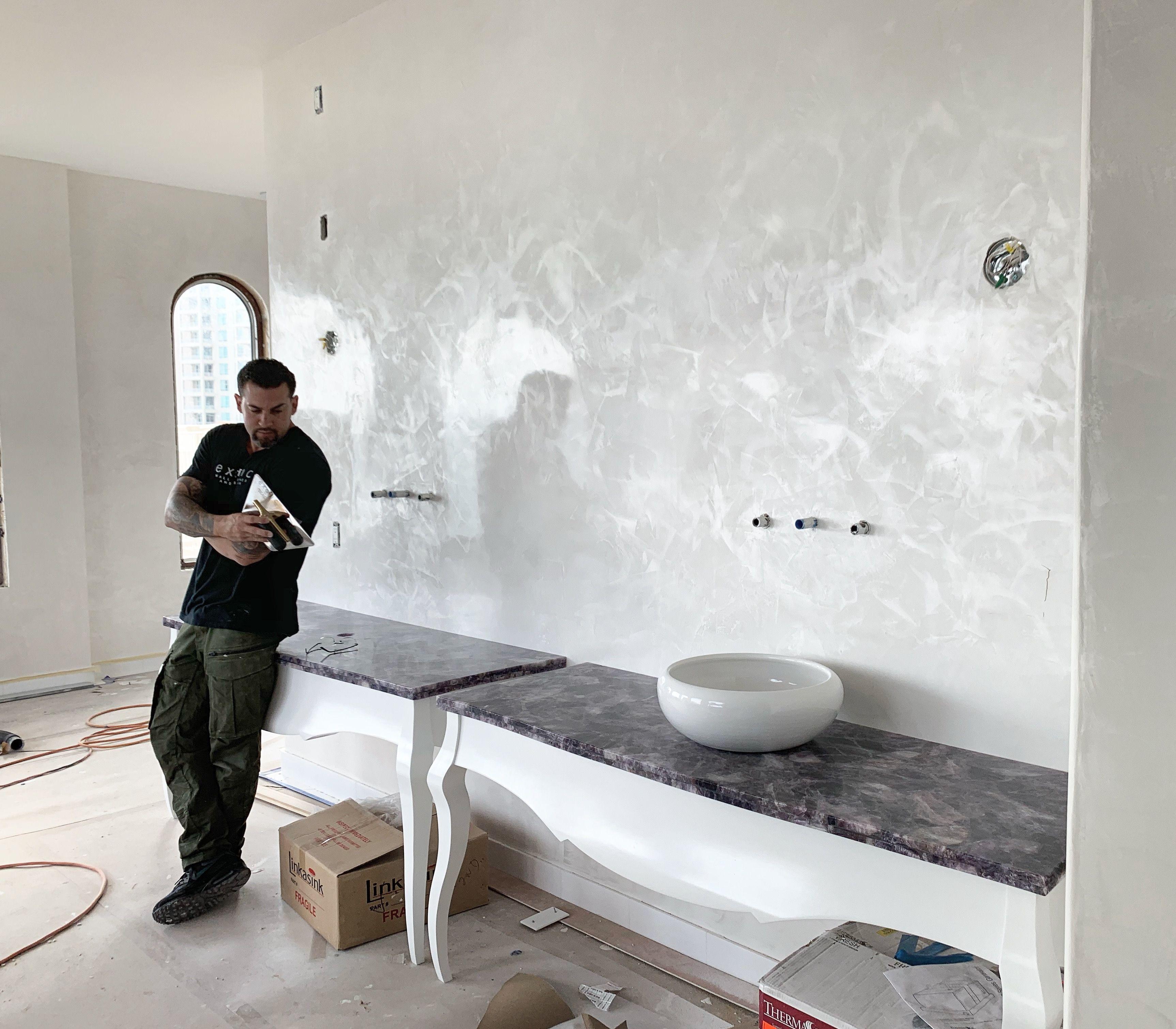 - Clean White Venetian Plaster With Silver Wax! Venetian Plaster