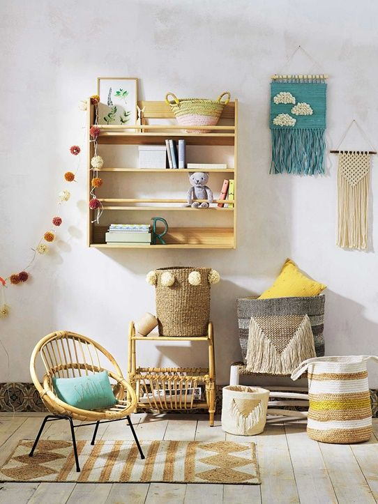 fauteuil enfant rotin naturel noir 2 chambre b b. Black Bedroom Furniture Sets. Home Design Ideas