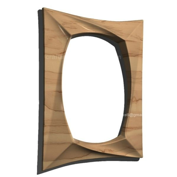 Mirror frame design. STL Model for Wood CNC Router and 3D printer
