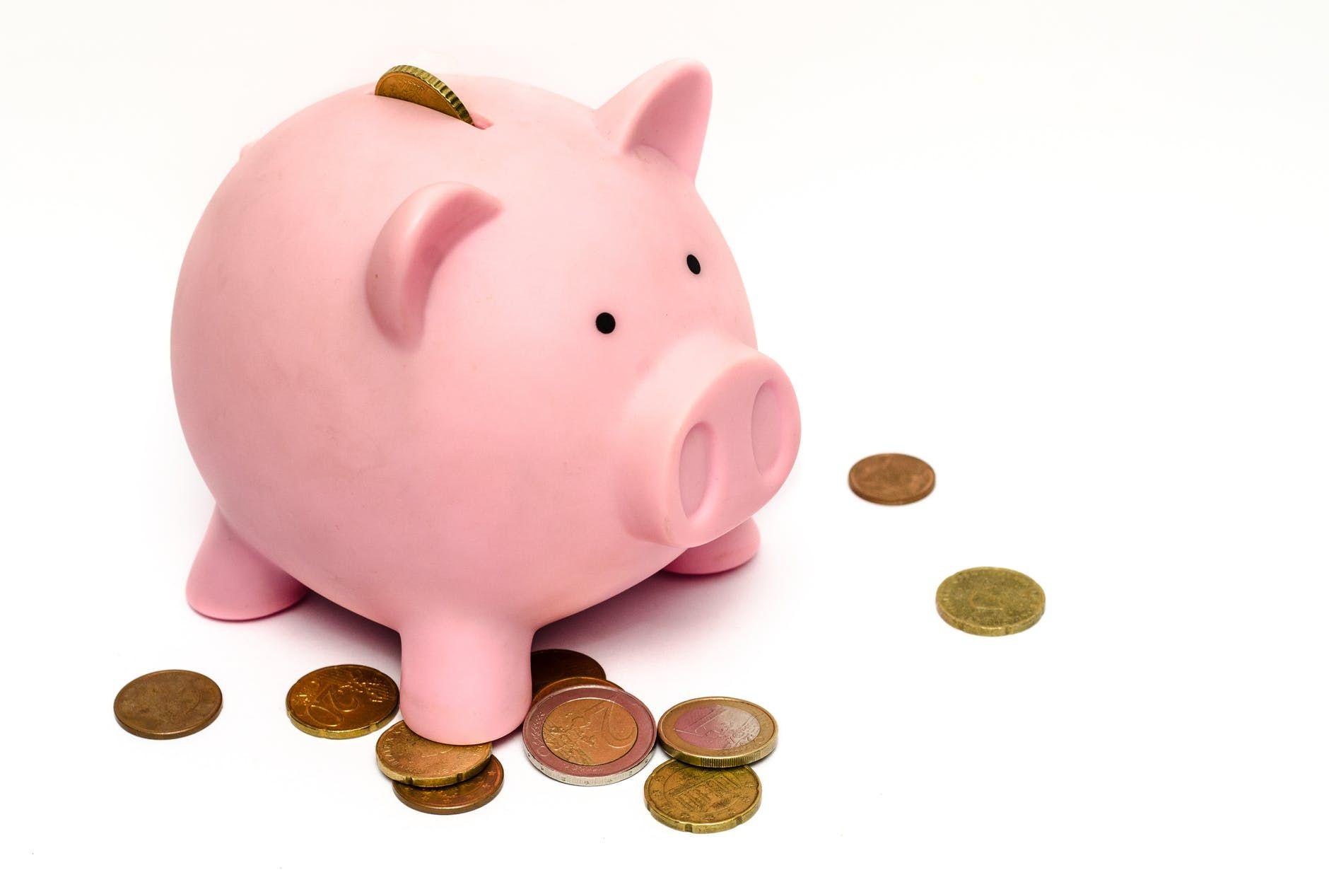 Individual Retirement Accounts Piggy bank, Saving money