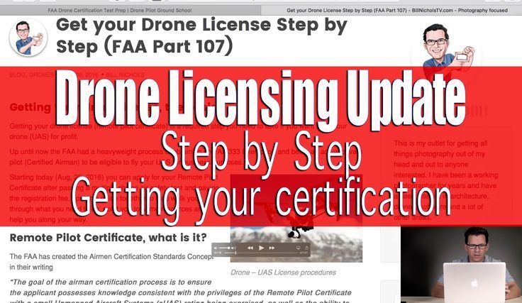 FAA Part 107 Drone License Information (Step by Step