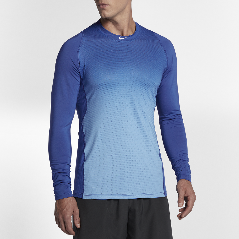 Nike Mens Pro Combat Hyperwarm Fitted Hypercool Long Sleeve Shirt Base Layer Sleeves