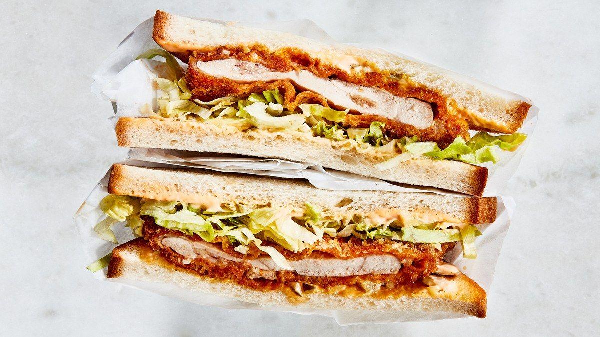 Spicy Chicken Katsu Sandwiches Recipe Recipe Katsu Sandwich Recipe Sandwiches Spicy Chicken