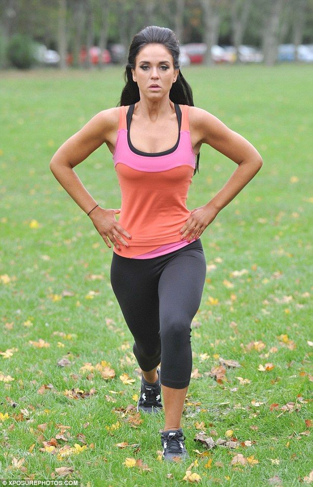 Vicky Pattison shows off her toned figure working out in ...