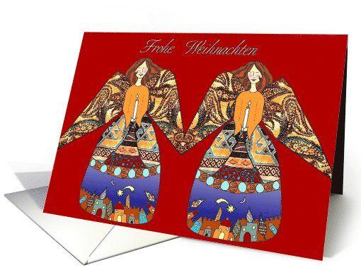 frohe Weihnachten Engel mit Kerze card