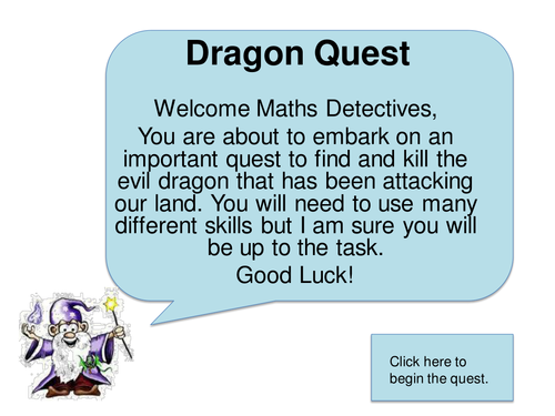 Dragon Quest Adventure KS2 Maths Problem Solving | Maths | Pinterest ...