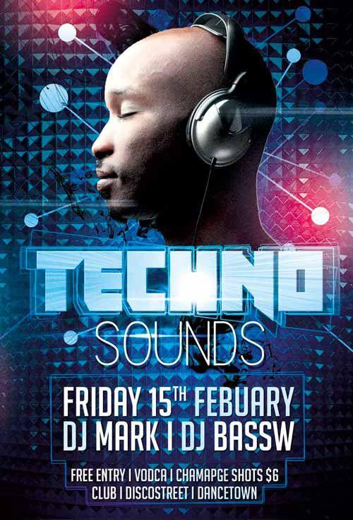 Techno Club Party Free Psd Flyer Template  HttpFreepsdflyer