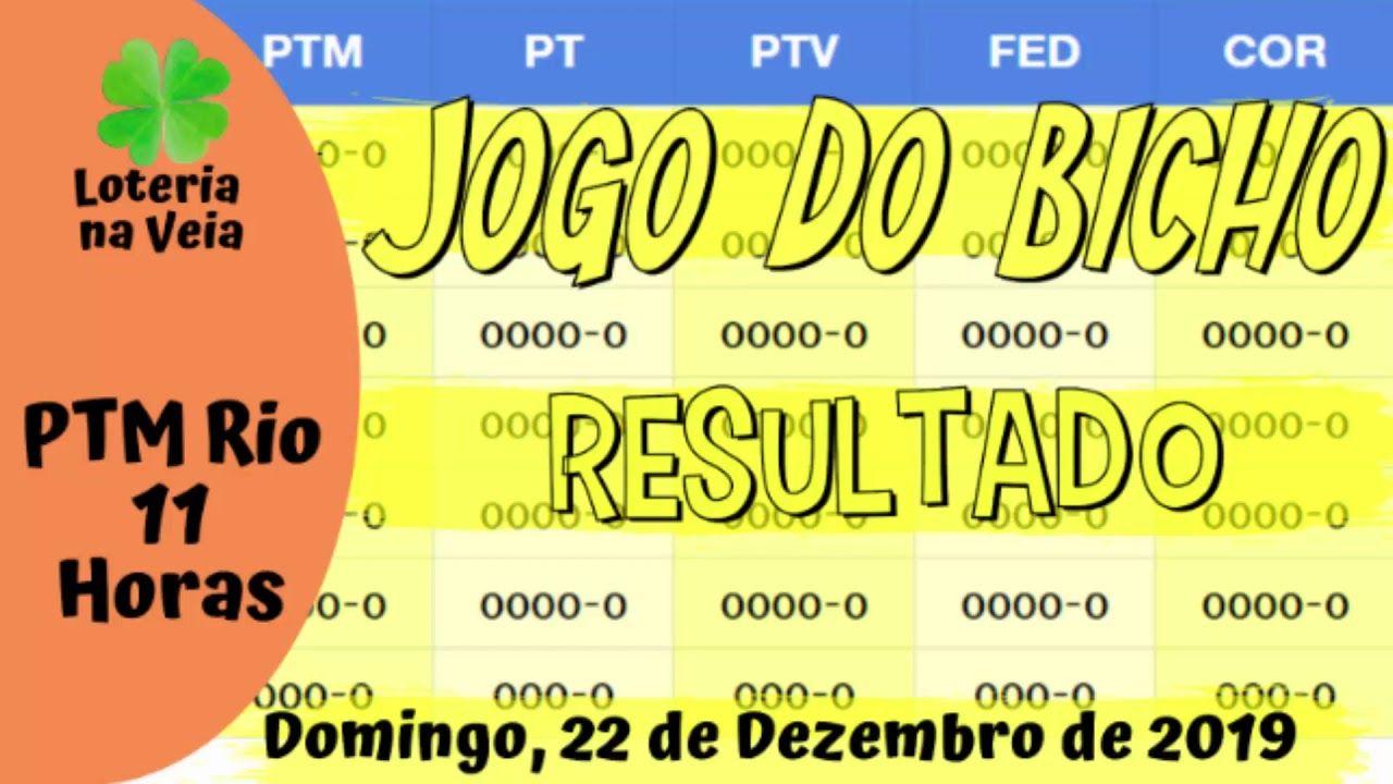 Resultado Da Ptm Rio Das 11 Horas 22 12 2019 Jogo Do Bicho De