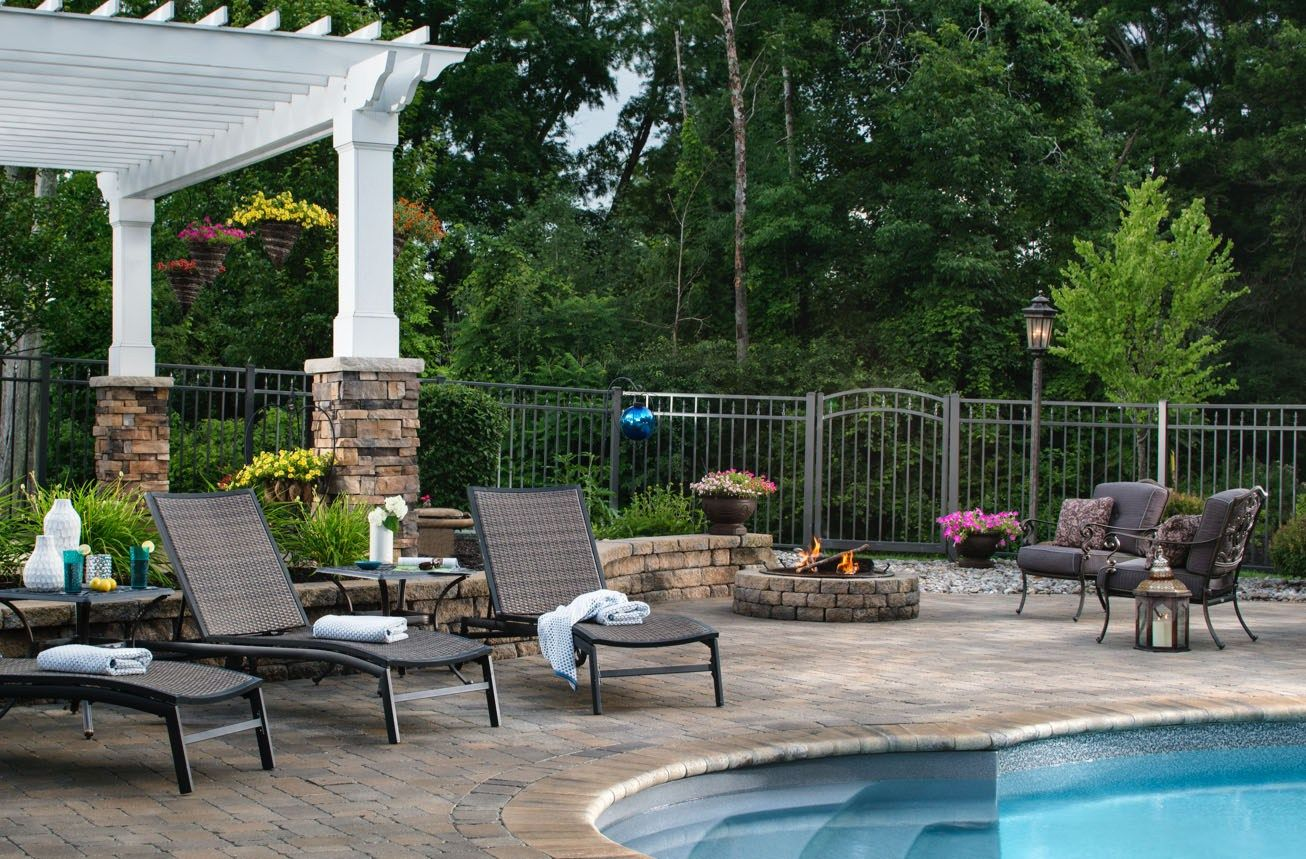 A big pool deck trend for 2017 is adding fire elements for Pool design trends 2017