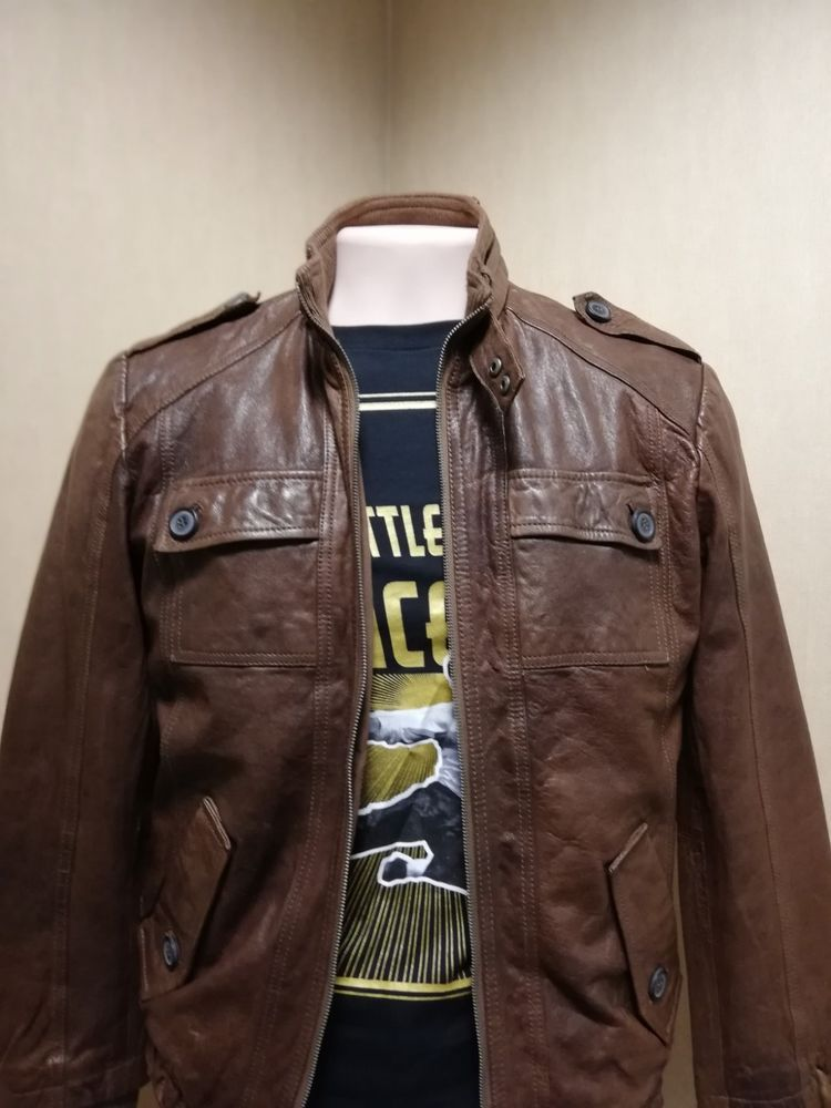 59e1dc3d652dc0 Leather Jacket for men Jack&Jones Brown Size S #fashion #clothing #shoes  #accessories #mensclothing #coatsjackets (ebay link)