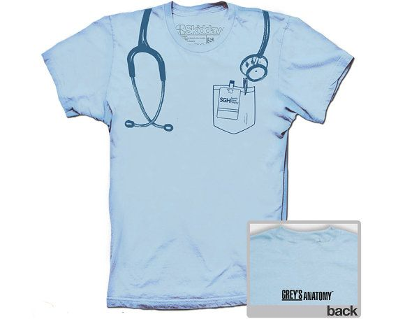 Camiseta de anatomía de Grey inspiró a Seattle Grace Hospital médico ...
