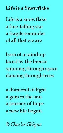 Poems About Life Poetry Structure Falling In Love And Holding Extraordinary Love Snowflake Quotes