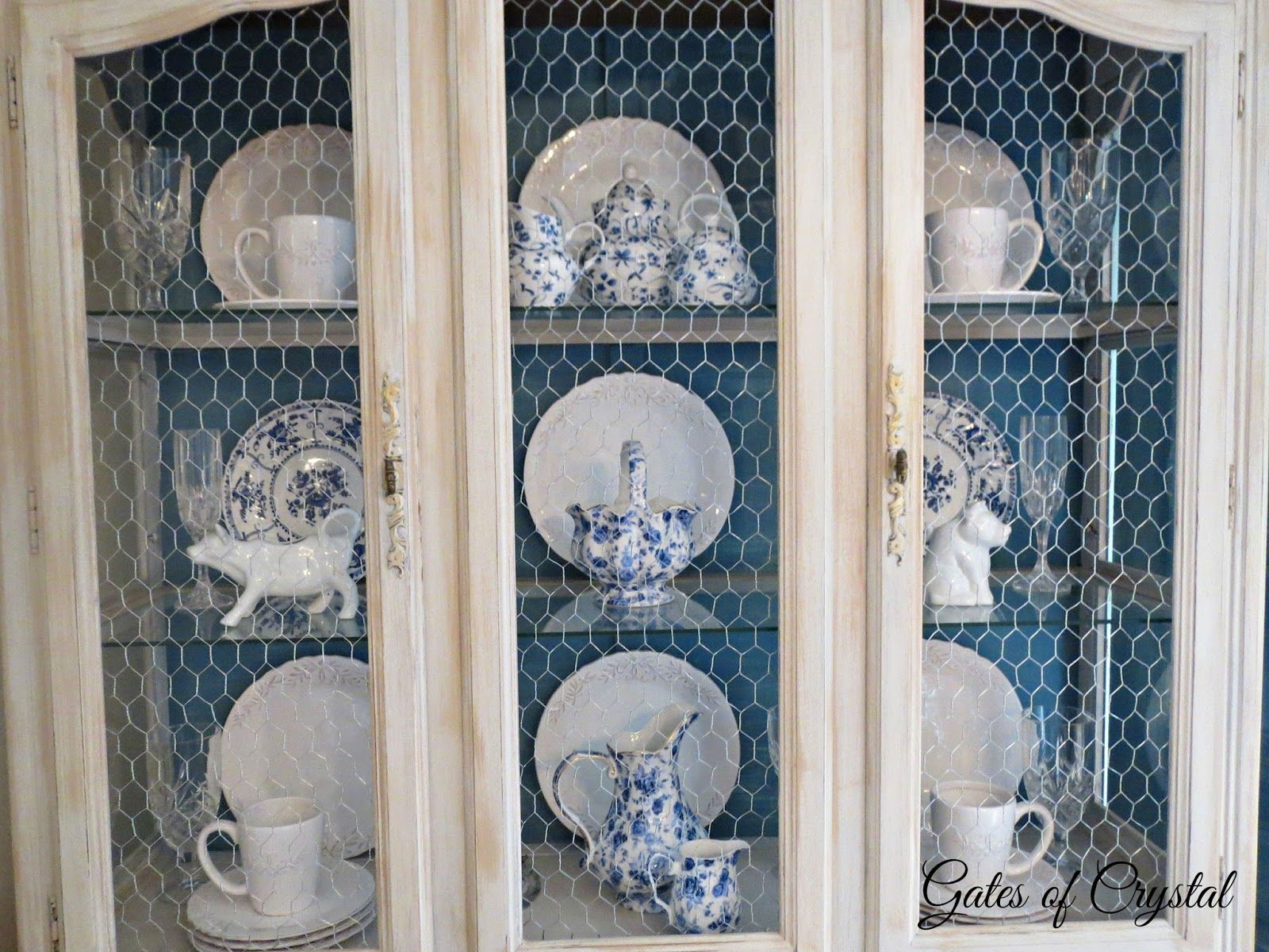Amazing Chicken Wire Glass Cabinet Doors Motif - Electrical and ...