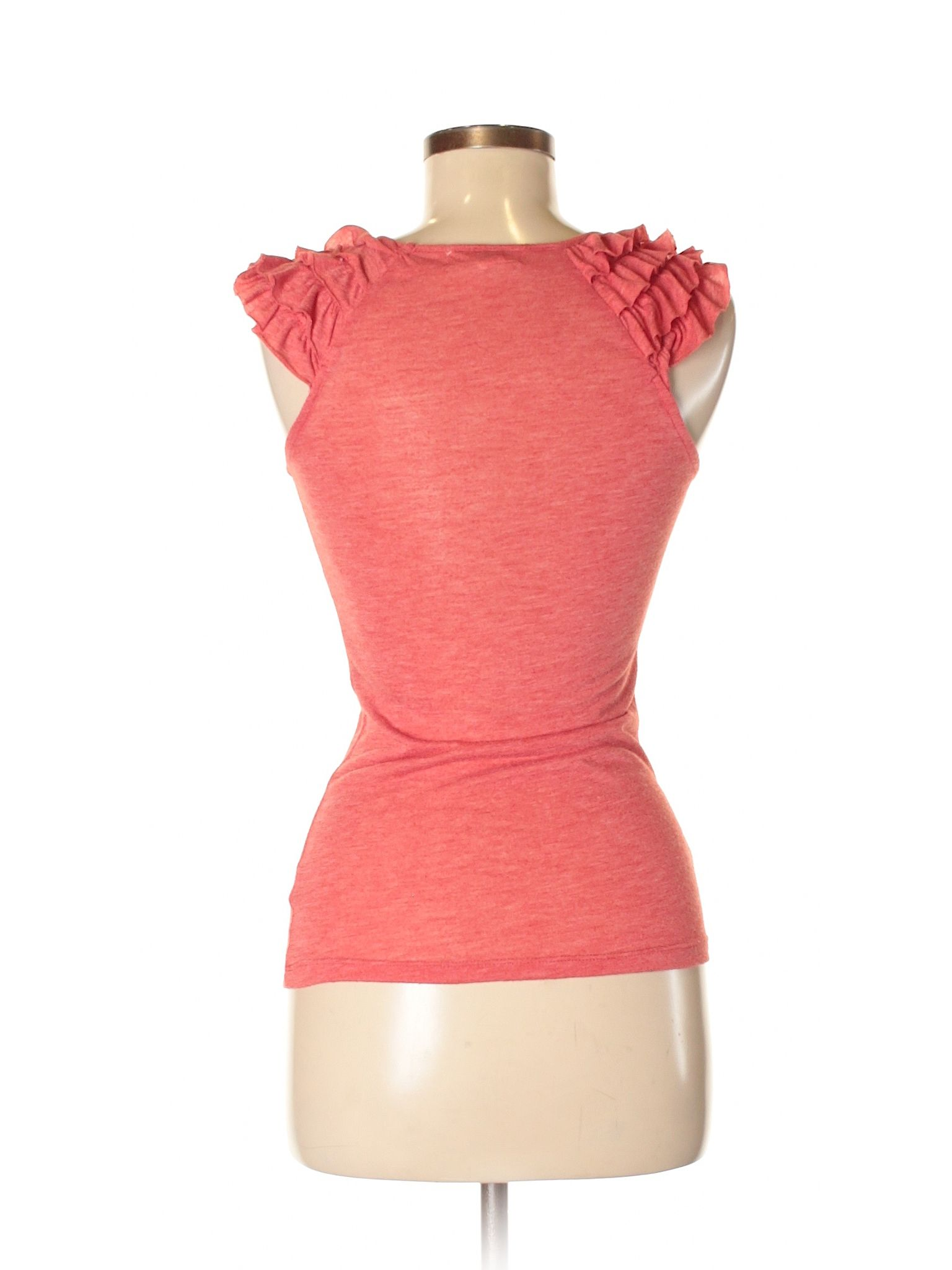 Forever 21 Short Sleeve Top Size 400 Coral Womens Tops