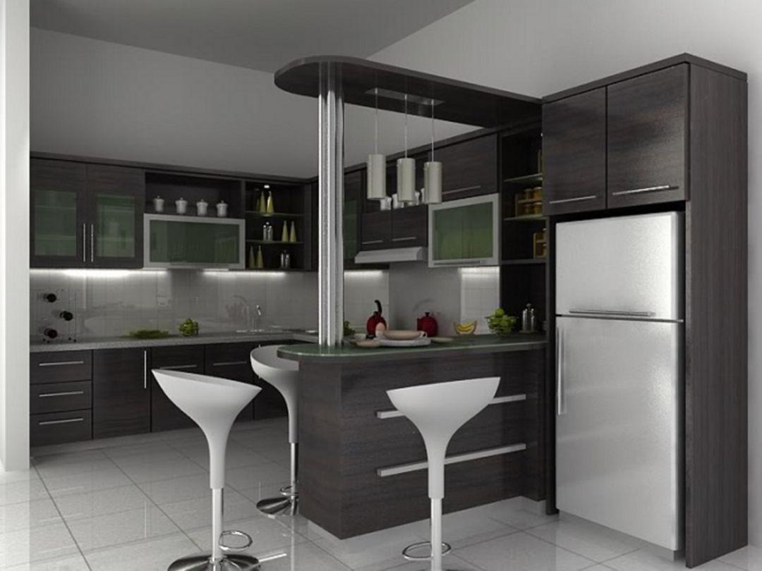 15 Gorgeous Minibar Designs Ideas For Your Kitchen Kitchen Sets Kitchen Interior Minimalist Kitchen