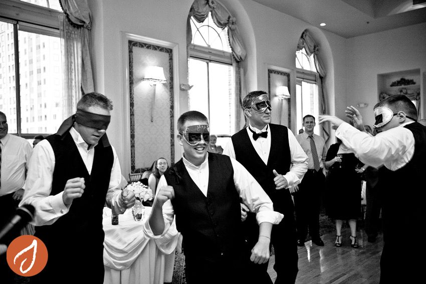 Blindfolded bridal party dance off! www.autumn-photography.com  Hudson Valley NY, Westchester and western CT photographer