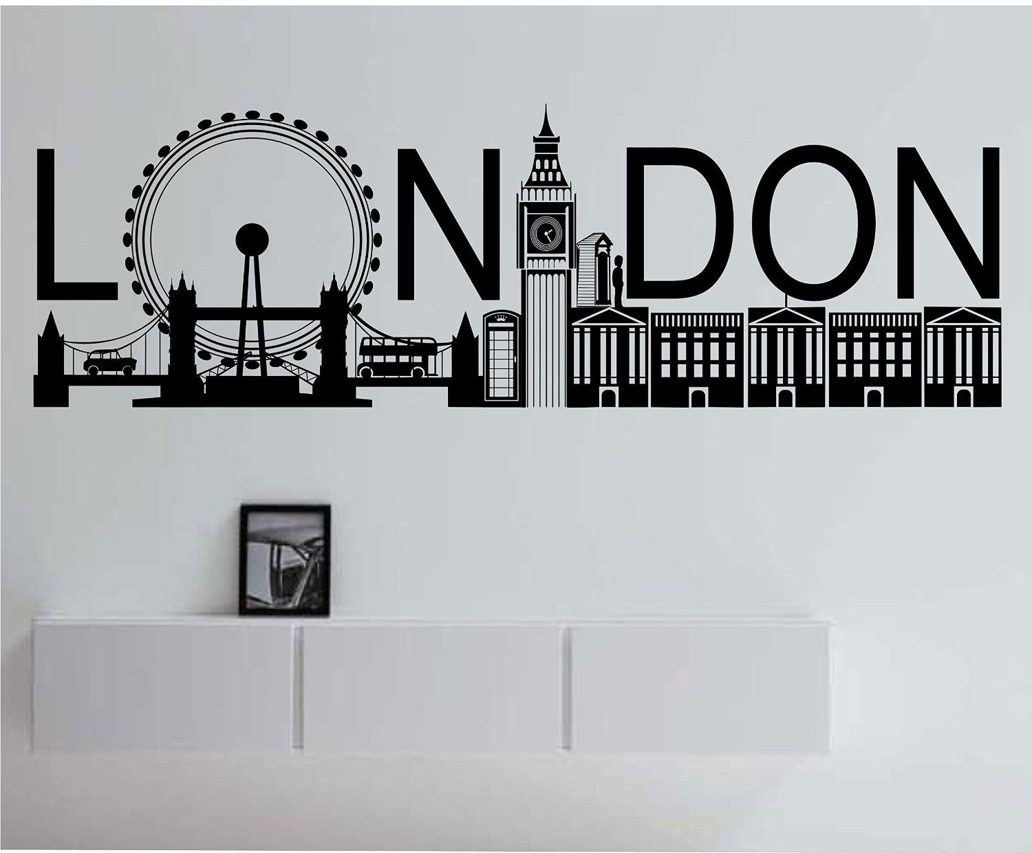 London Skyline Kitchen Dining Living Bedroom Decal Wall Art Sticker Picture 3