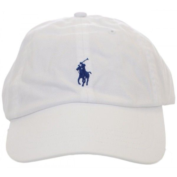 cdc702c0b3b70 Polo Ralph Lauren White Polo Player Baseball Cap ($33) ❤ liked on Polyvore  featuring accessories, hats, fillers, head, headwear, white hat, baseball  cap, ...