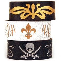 Dillon Rogers Skull Leather Bracelet