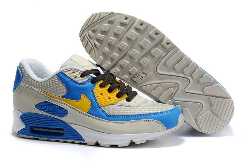 new style 7a8ca fd58a Now Buy Nike Air Max 90 Womens Blue Yellow Grey Save Up From Outlet Store  at Nikeairzoom.