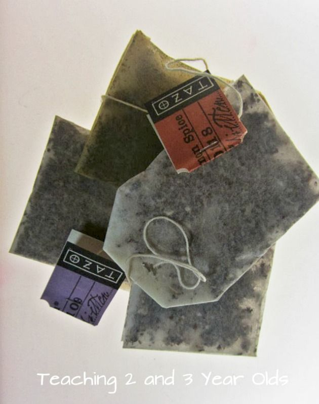 Preschool Art with Tea Bags - Teaching 2 and 3 Year Olds