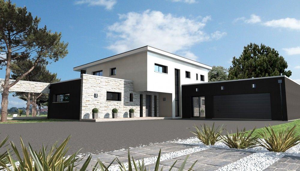 Constructeur maison moderne nantes rez loire atlantique for Constructeur de maison moderne
