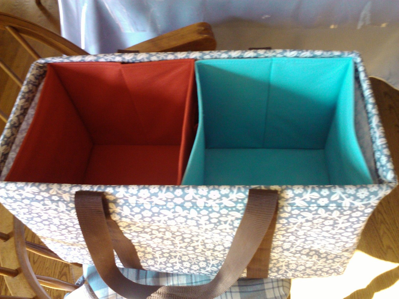 Large tote bags at target - You Can Use Inexpensive Fabric Bins Closet Maid Brand Target Walmart To Temporarily Stiffen Your Large Utility Tote And Keep It Standing