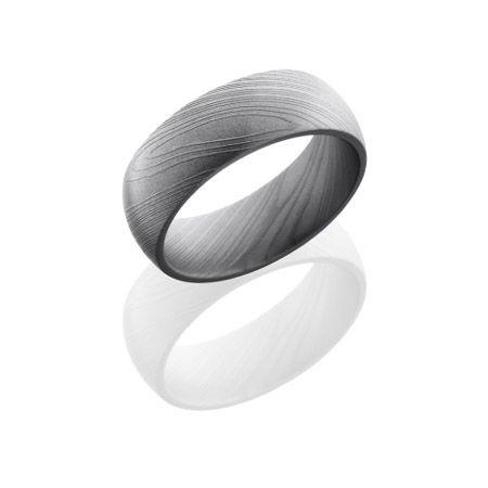 Domed Damascus Steel Wedding Ring Damascus Steel Wedding Band Steel Wedding Ring Damascus Steel