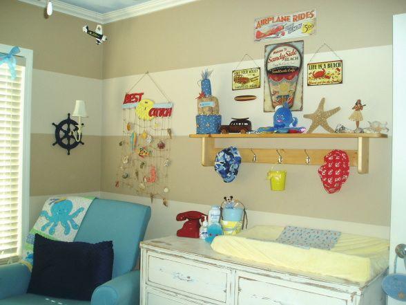 Baby Nash S Vintage Nautical Nursery: Vintage Beach Fishing Boys Room