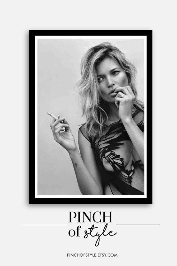 Kate Moss Quote Inspiration Motivation Actor Charisma Black /& White Print Poster