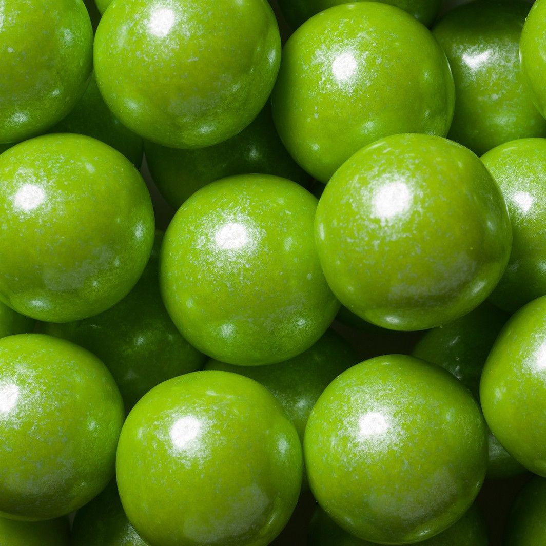 Shimmer Lime Green Gumballs (2 lbs)