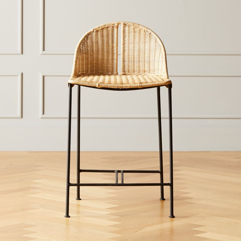 Cesta Rattan Counter Stool Reviews Cb2 In 2020 Rattan Counter Stools Counter Stools Wicker Counter Stools
