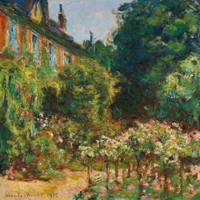 Claude Monet (1840-1926) La maison de l'artiste à Giverny signed and dated 'Claude Monet 1912' (lower … | Claude monet art, Monet paintings impressionism, Monet art