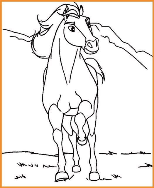 Pferde Ausmalbild Zum Ausdrucken Ausmalbilder Pferde Spirit
