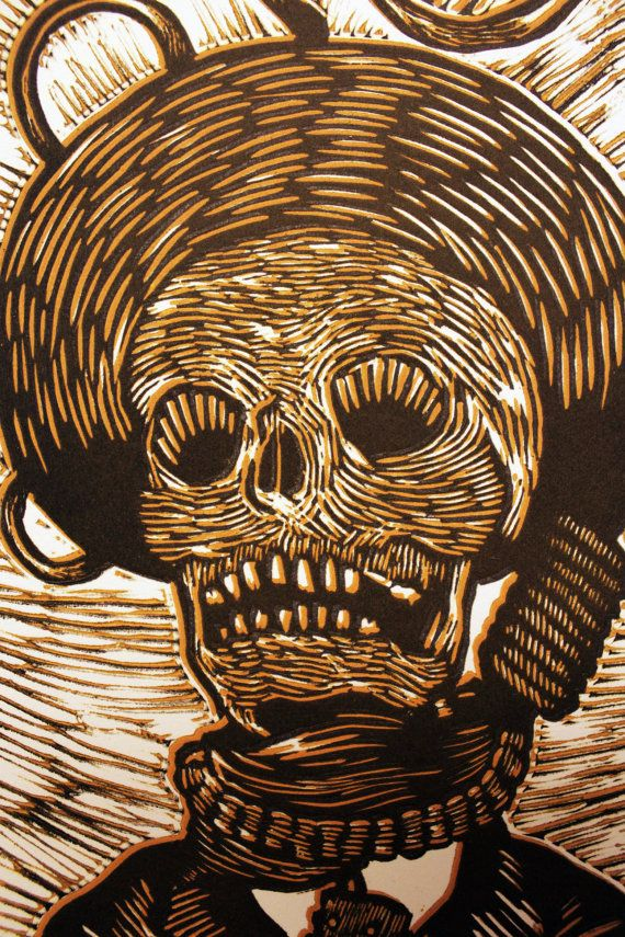 Hand pulled relief print