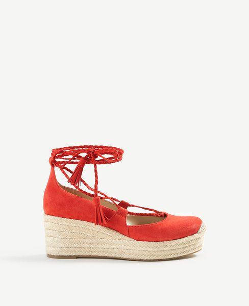 ed24260d0a2 ANN TAYLOR Elsa Suede Espadrille Wedges. #anntaylor #shoes #pumps ...