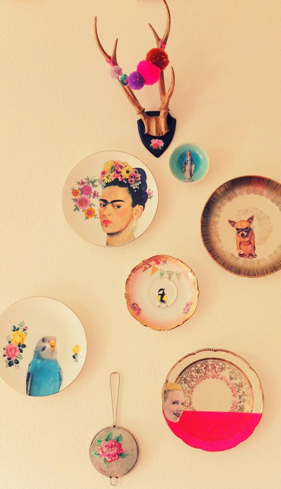 jans schwester: Besticktes Sieb und Wandteller | home | Pinterest ...