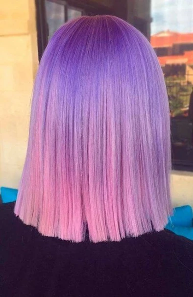 Purple Wig 7A Hair Color Rainbow Hair Color