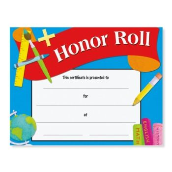 Honor roll award casual certificates honor roll certificate and honor roll award casual certificates yadclub Gallery