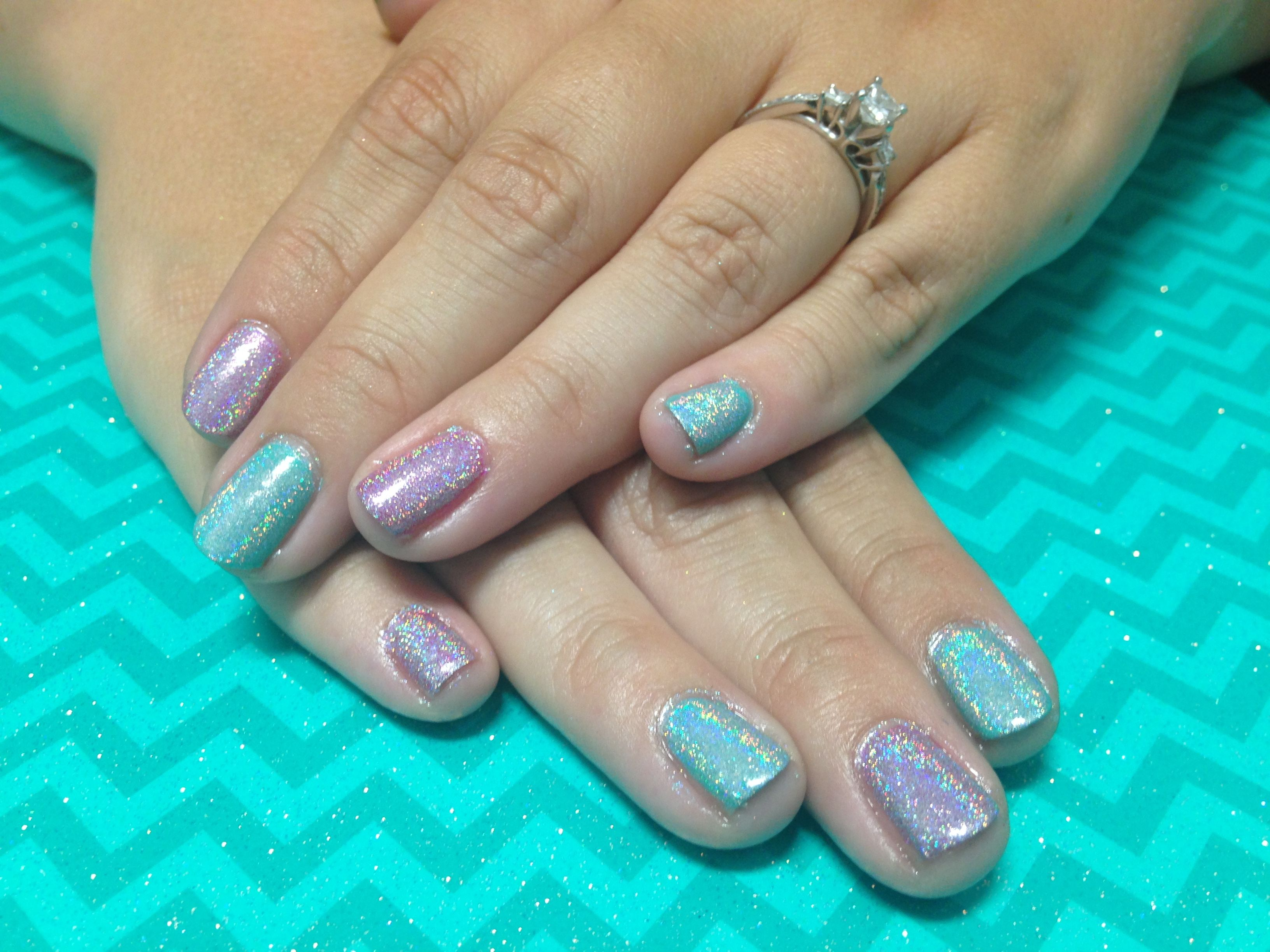 Teal and pink unicorn shellac nails. | Nails by LYSA! | Pinterest ...