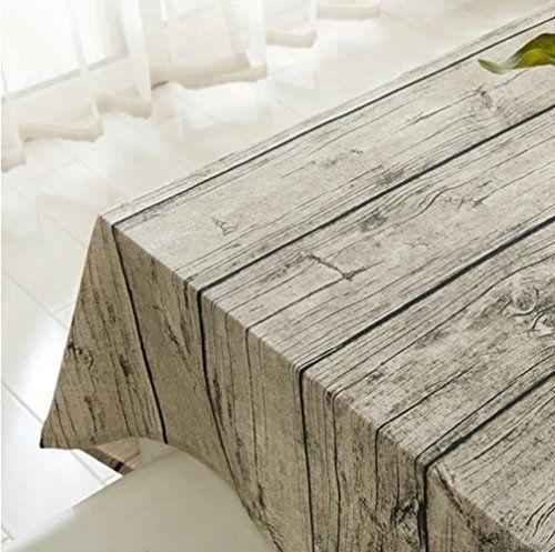 Nappe De Lin En Coton Coton Rectangulaire Tissu De Table A Manger A