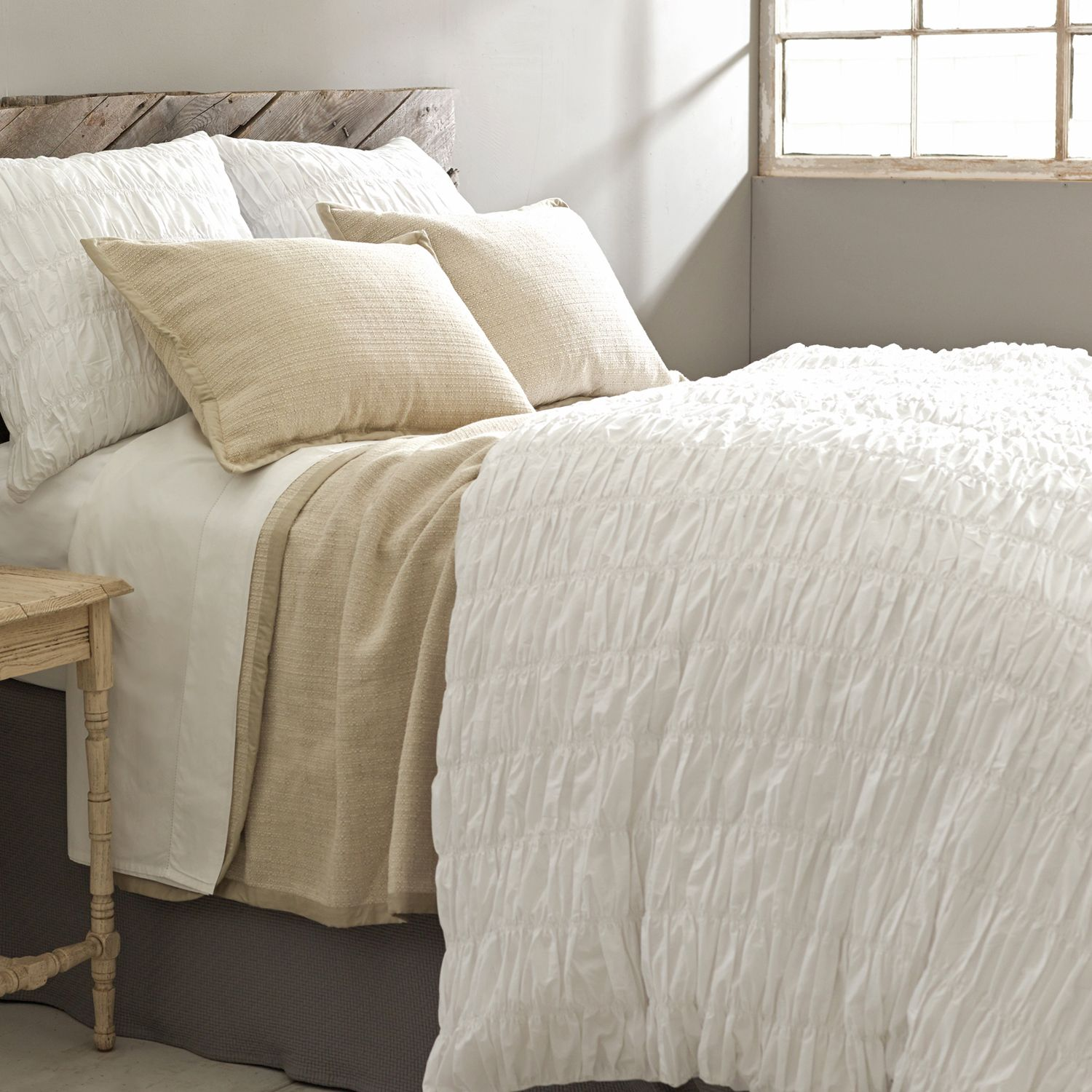 Pine Cone Hill Smocked White Duvet Cover Laylagrayce Lgturns10