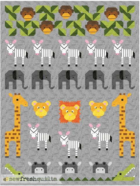 Jungle Friends quilt pattern - Coming Soon! (Sew Fresh Quilts ... : fresh quilting - Adamdwight.com