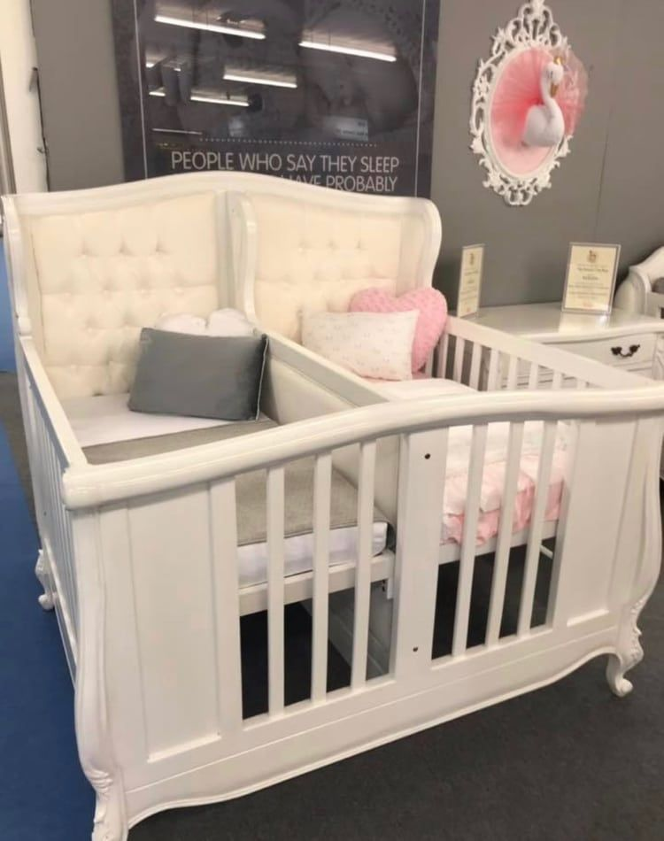 Image About Twins In All Things Baby Kids By Angel Cobain Baby Cribs For Twins Baby Bed Twin Baby Rooms